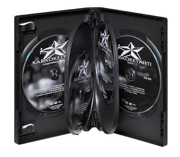 Kuuden levyn DVD-kotelo